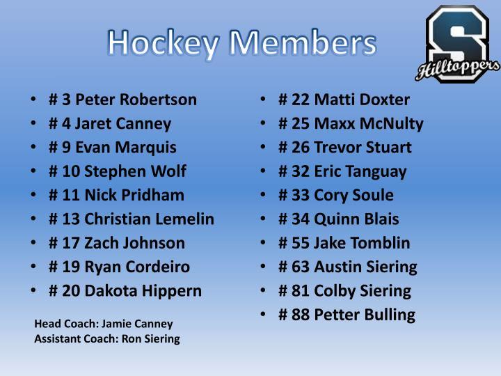 Hockey Members