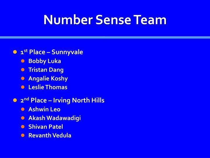 Number Sense Team
