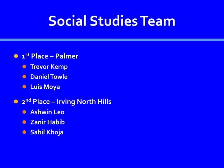 Social Studies Team