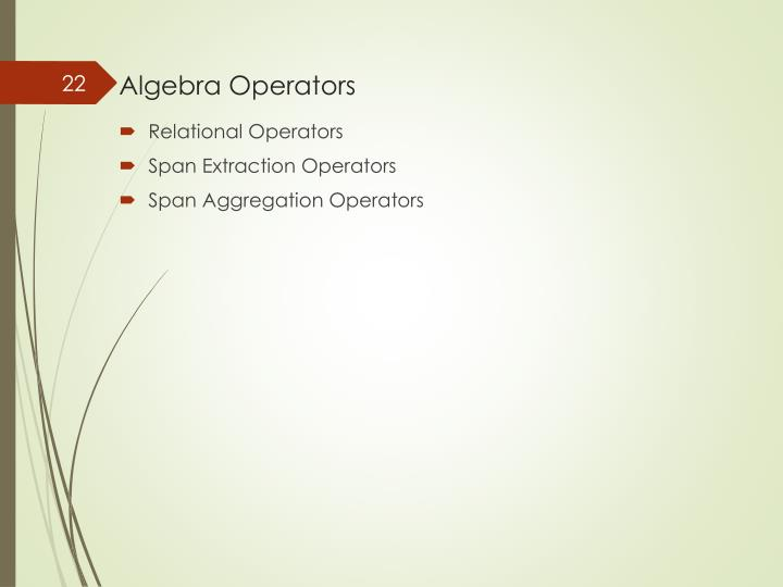 Algebra Operators