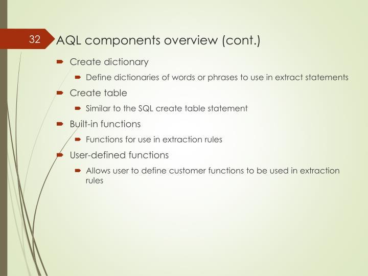 AQL components
