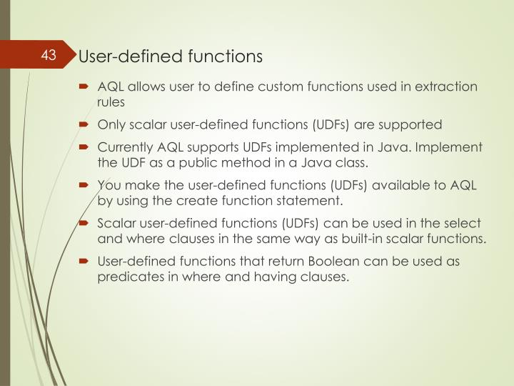 User-defined