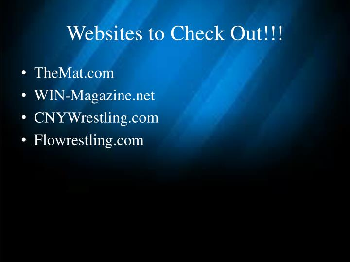 Websites to Check Out!!!