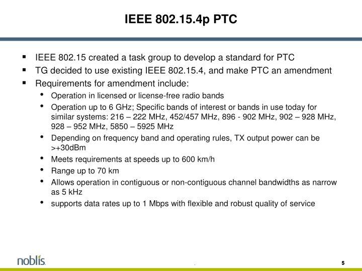 IEEE 802.15.4p PTC