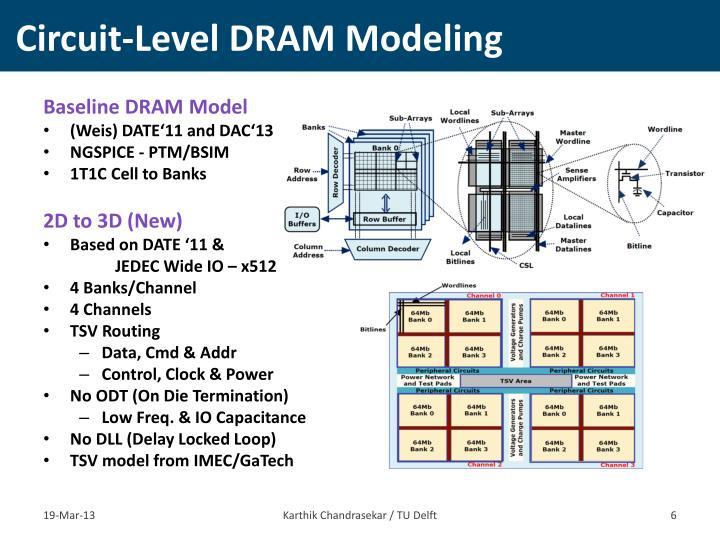 Circuit-Level DRAM Modeling