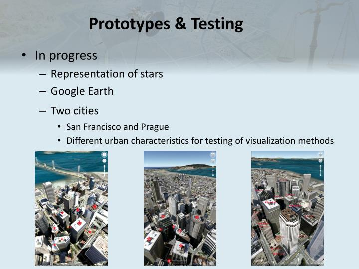 Prototypes & Testing