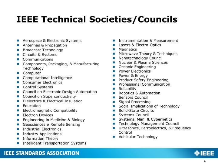 IEEE Technical Societies/Councils