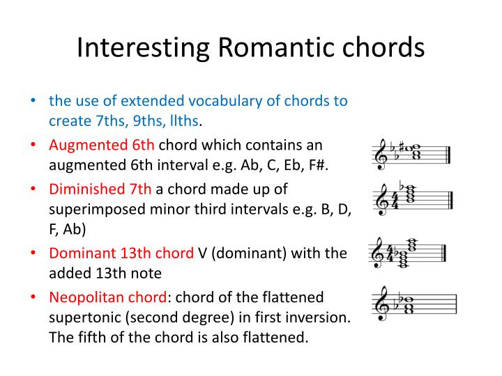 Interesting Romantic chords