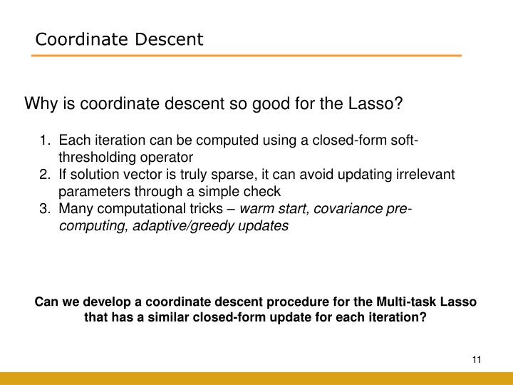 Coordinate Descent