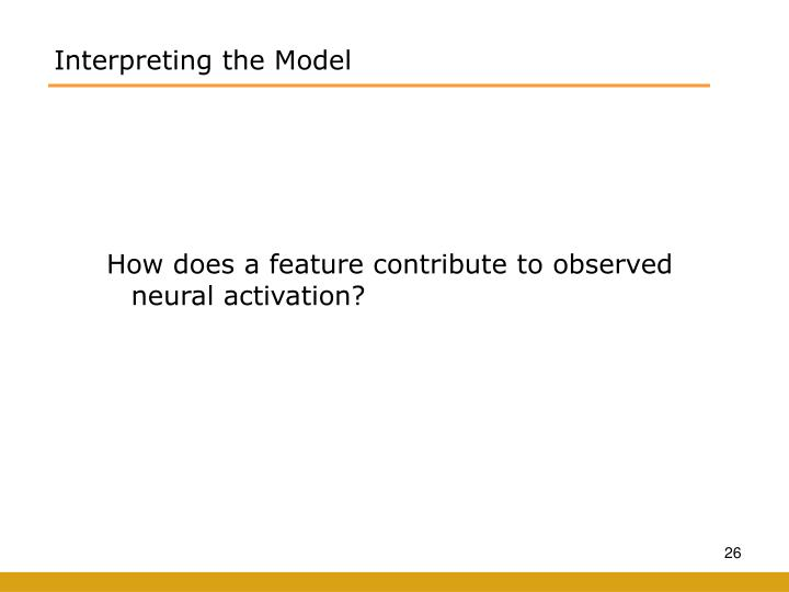 Interpreting the Model