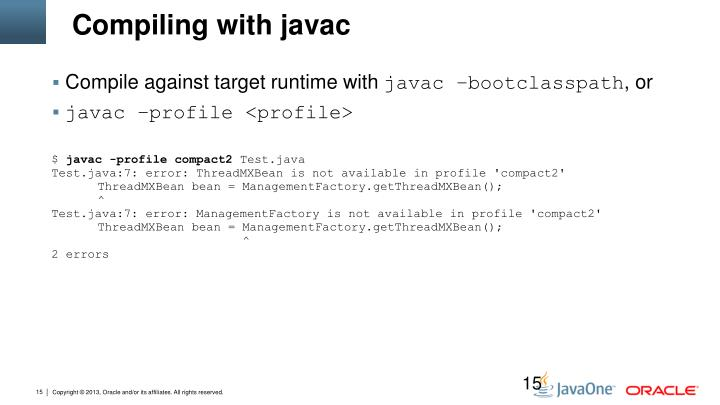 Compiling with javac