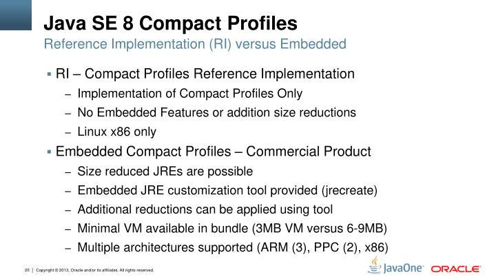 Java SE 8 Compact Profiles