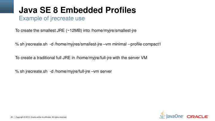 Java SE 8 Embedded Profiles