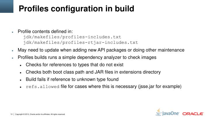Profiles configuration in build