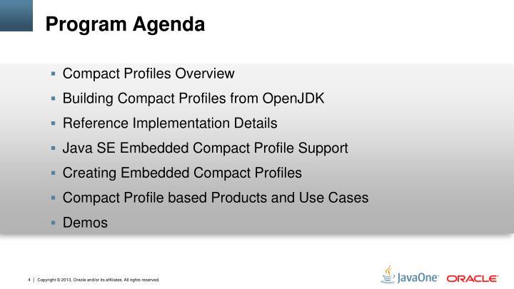 Program Agenda
