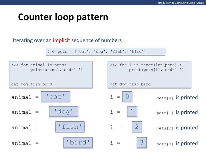 Counter loop pattern
