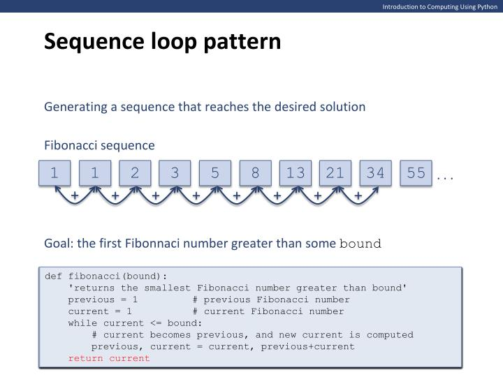 Sequence loop pattern