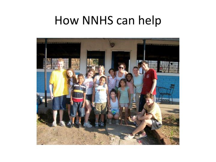 How NNHS can help