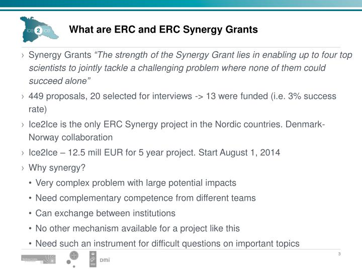 What are erc and erc synergy grants