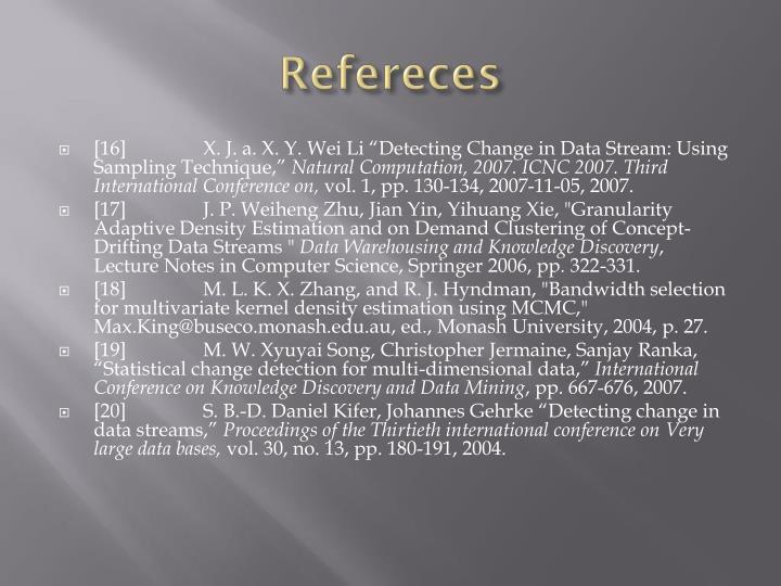 Refereces