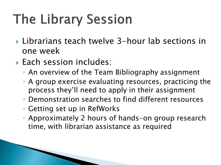 The Library Session