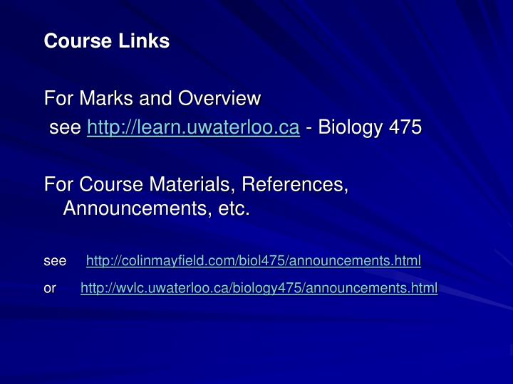 Course Links
