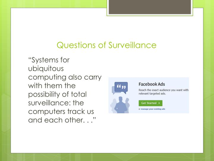 Questions of Surveillance