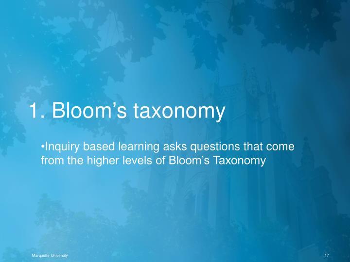 1. Bloom's taxonomy
