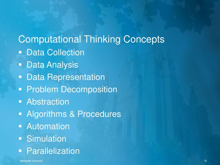 Computational Thinking Concepts