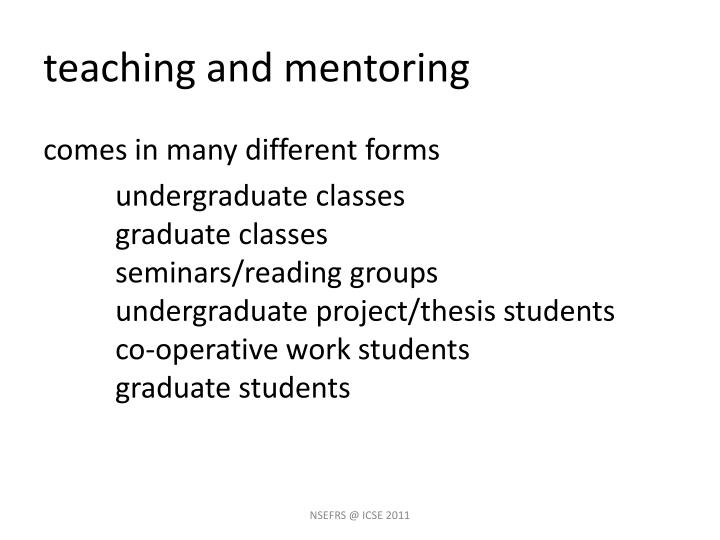 teaching and mentoring