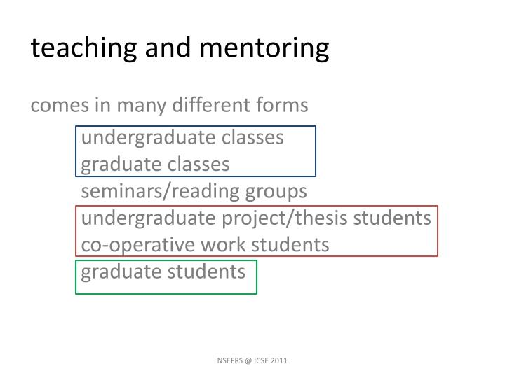 Teaching and mentoring1