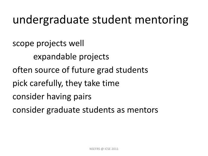 undergraduate student mentoring