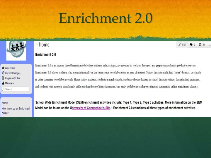 Enrichment 2.0
