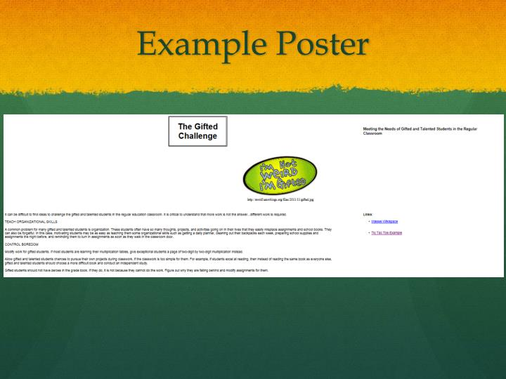 Example Poster