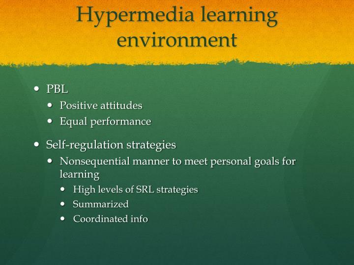 Hypermedia learning environment
