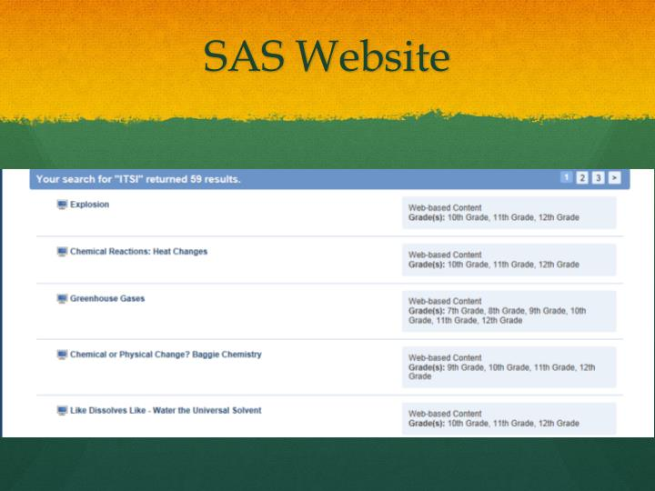 SAS Website