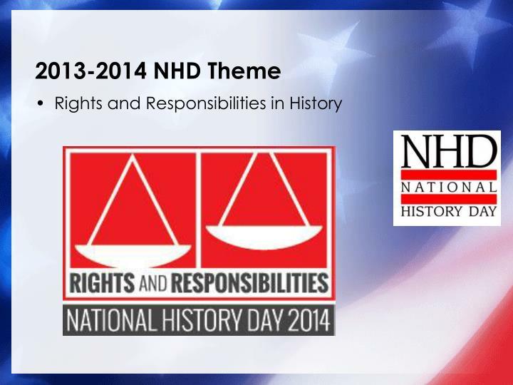 2013-2014 NHD Theme