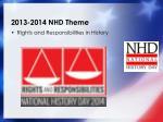 2013 2014 nhd theme