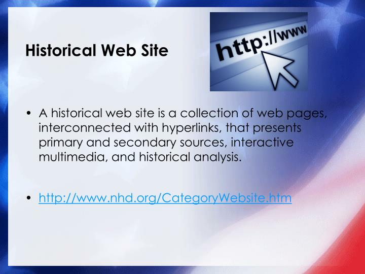Historical Web Site