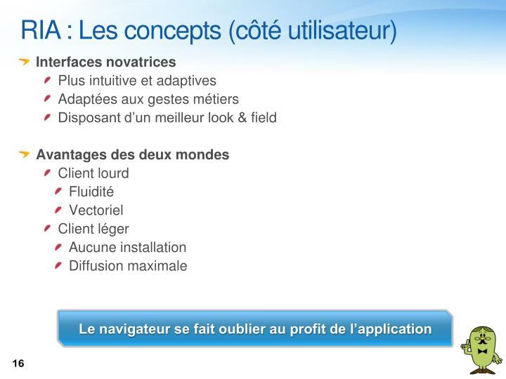 RIA : Les concepts (côté utilisateur)