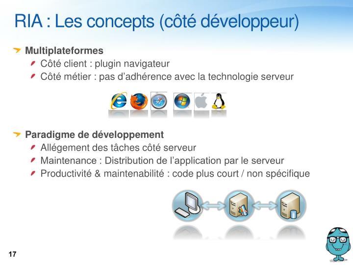 RIA : Les concepts (côté développeur)