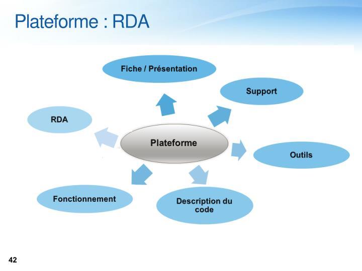 Plateforme : RDA