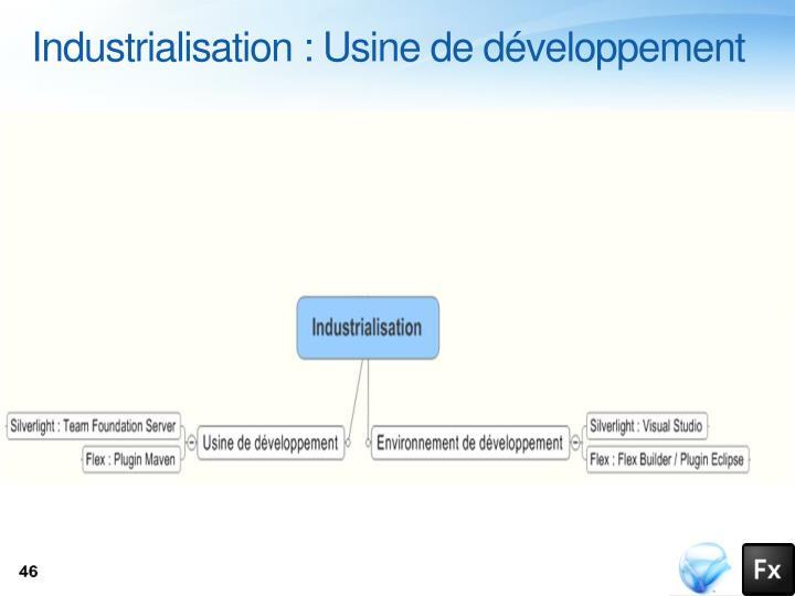 Industrialisation : Usine de développement