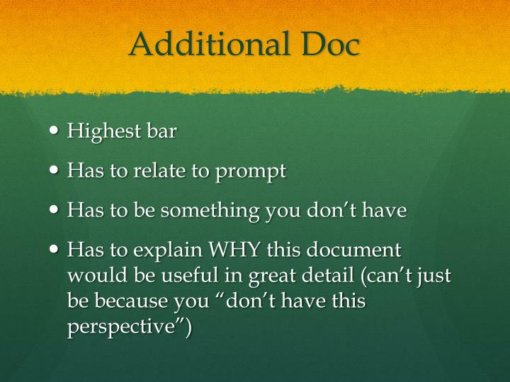 Additional Doc