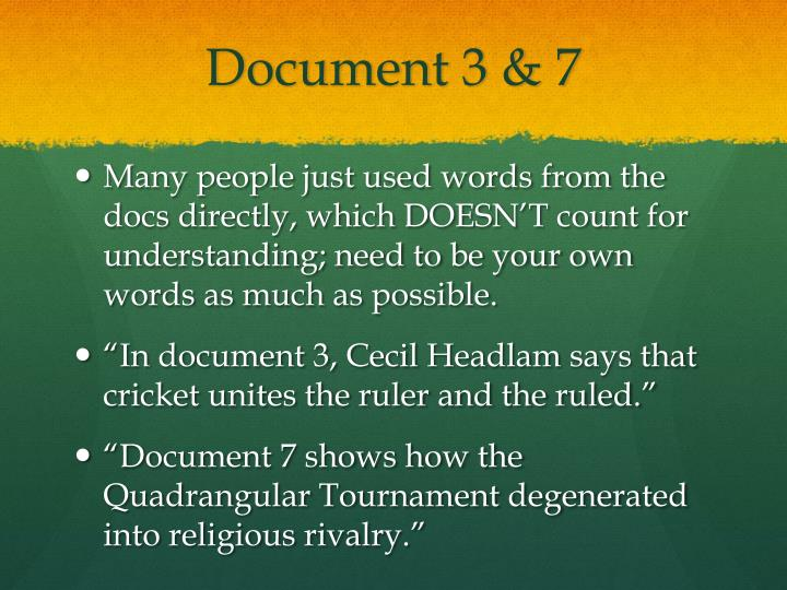 Document 3 & 7