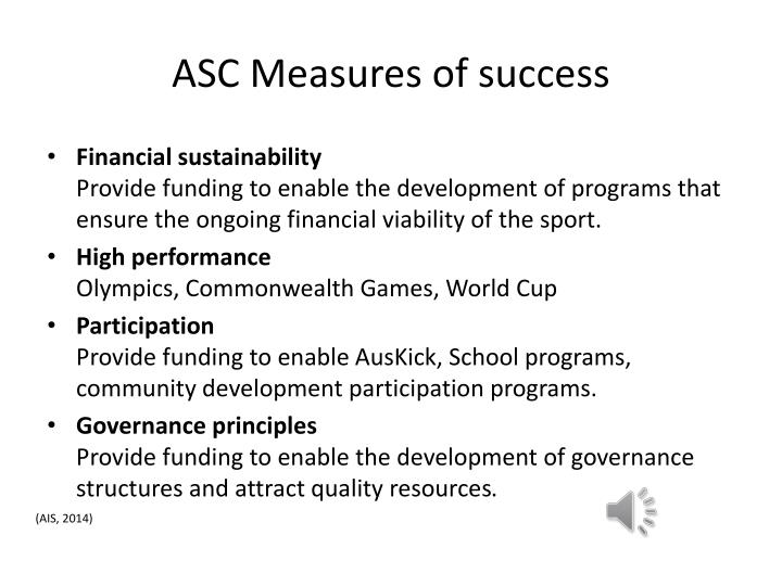 Asc measures of success