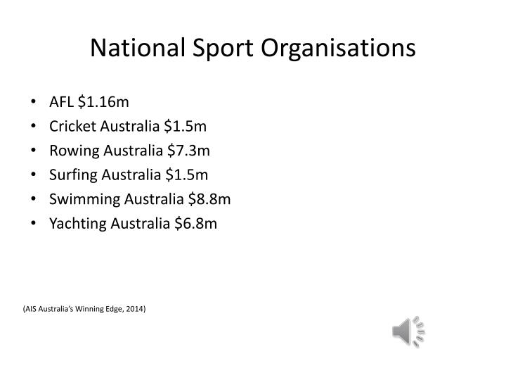 National Sport Organisations