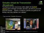 estudio virtual de transmisi n broadcast
