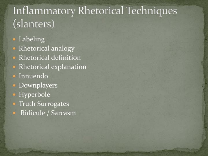 rhetorical technique The rhetorical appeals (rhetorical triangle) the rhetorical triangle is a common reference to the three rhetorical appeals identified by aristotle: ethos, pathos, and logos these three greek terms make reference to the primary concepts from which messages–in any communication channel–are created.