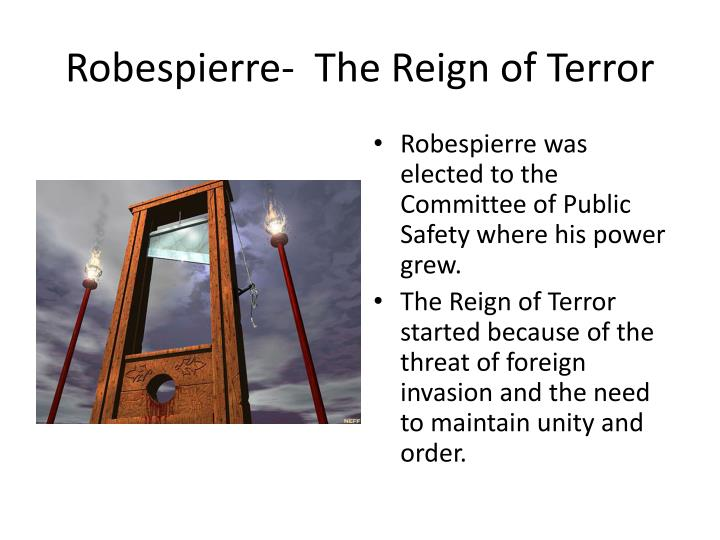the french reign of terror essay
